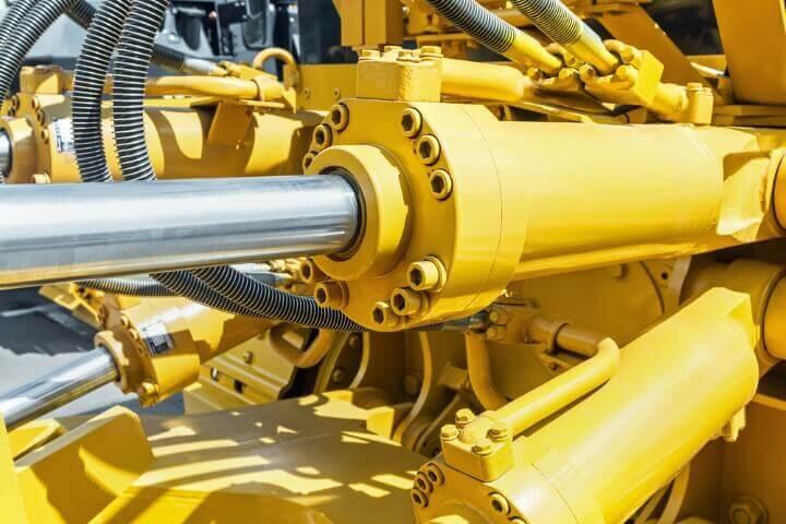 hydraulic cylinder on excavator