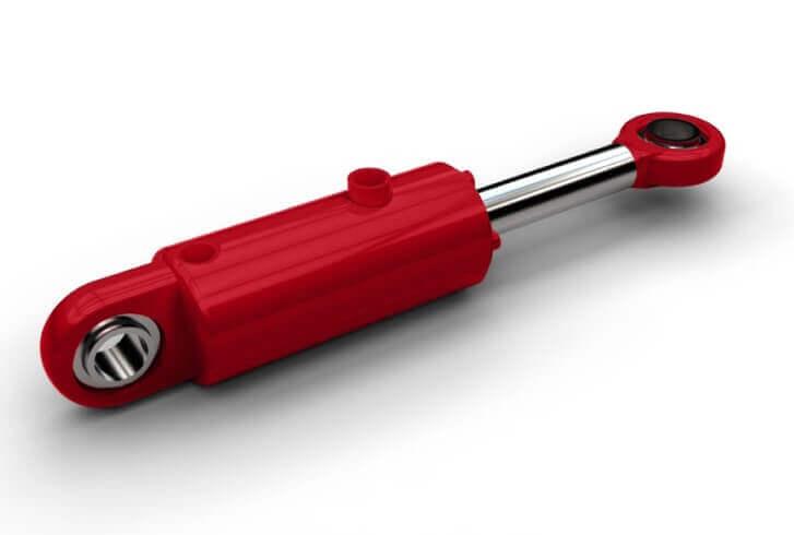 hidravlični cilinder rdeč